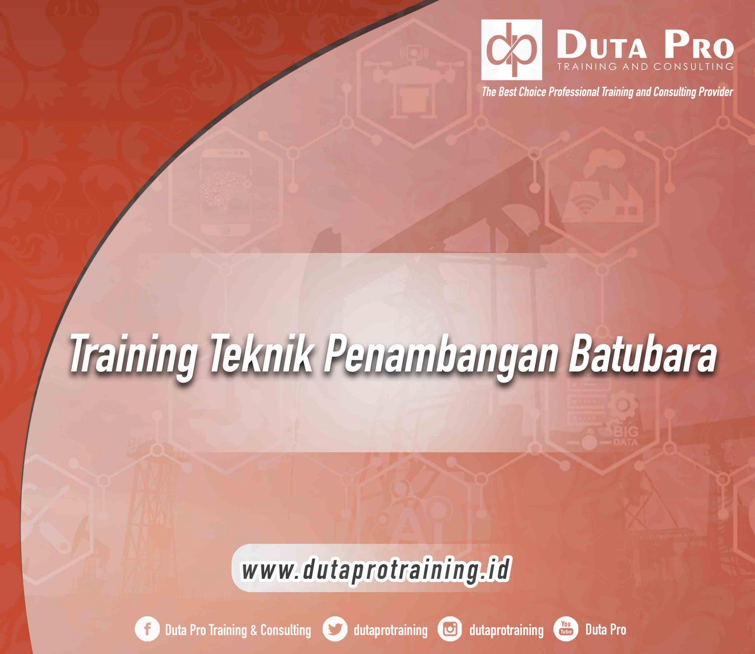 Training Teknik Penambangan Batubara