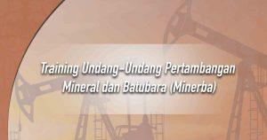 Training Undang-Undang Pertambangan Mineral dan Batubara (Minerba)