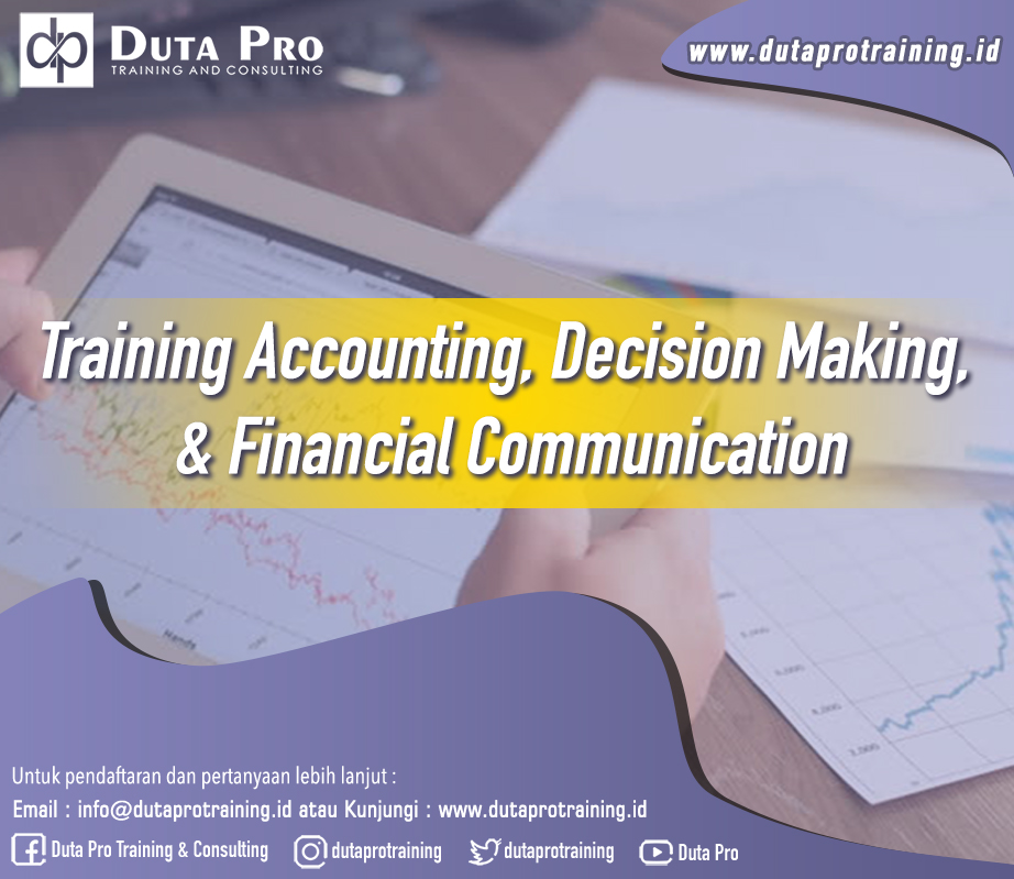 Training Accounting, Decision Making, and Financial Communication Image Training Duta Pro Training Jakarta Bandung Jogja Bali Surabaya Lombok