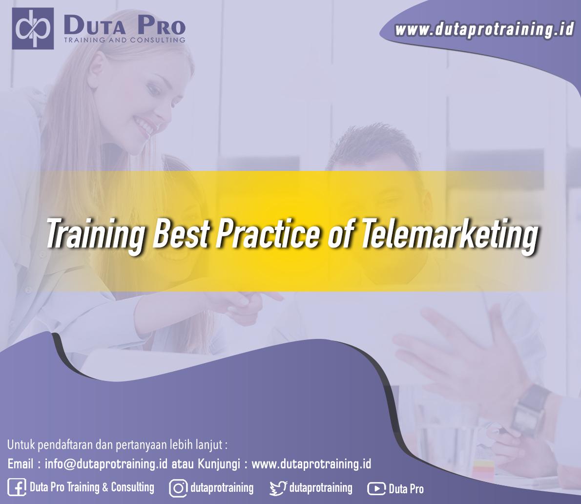 Training Best Practice of Telemarketing