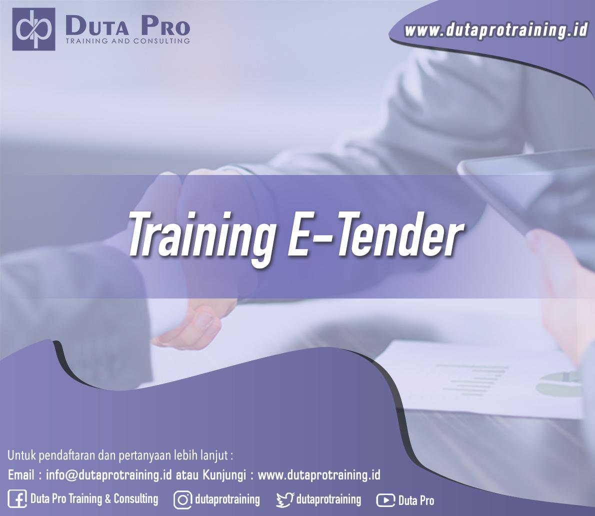 Training E-Tender