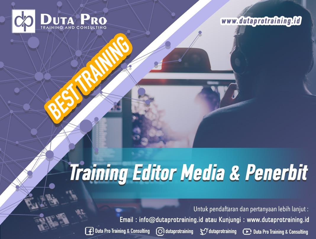 Training Editor Media dan Penerbit