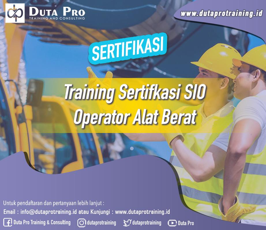 Training SIO – Operator Alat Berat