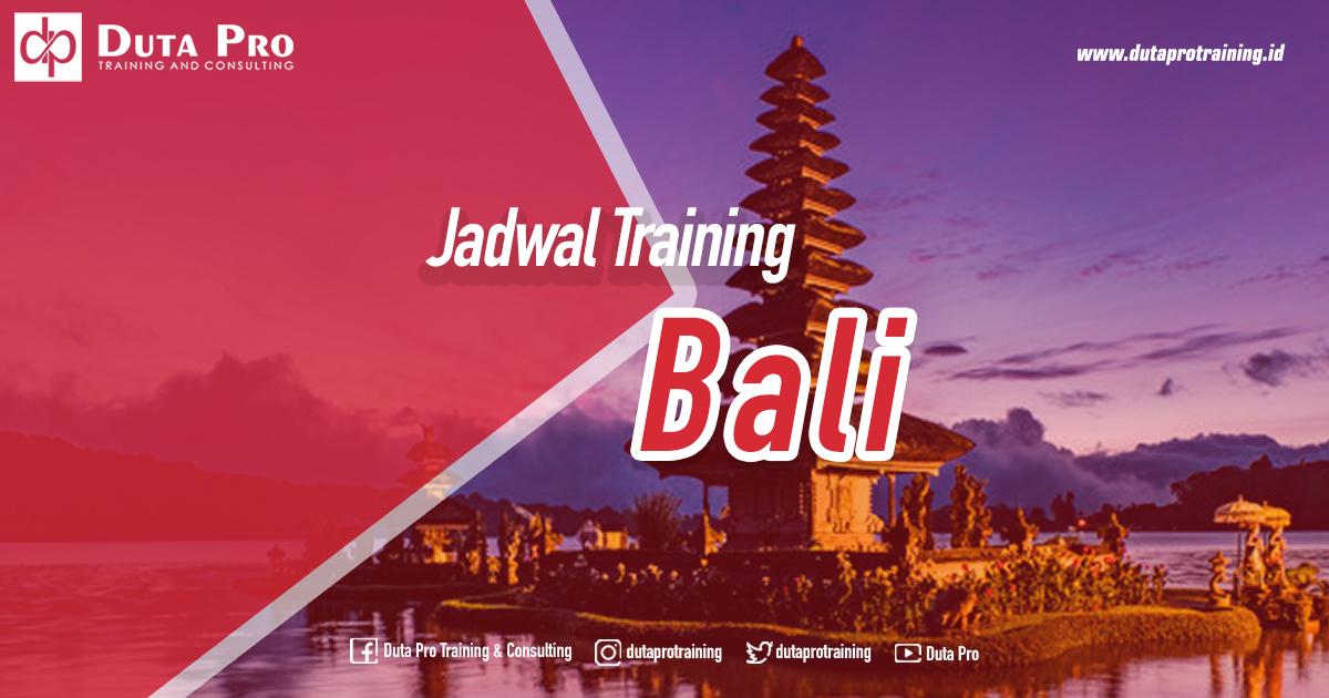 Jadwal Training di Bali