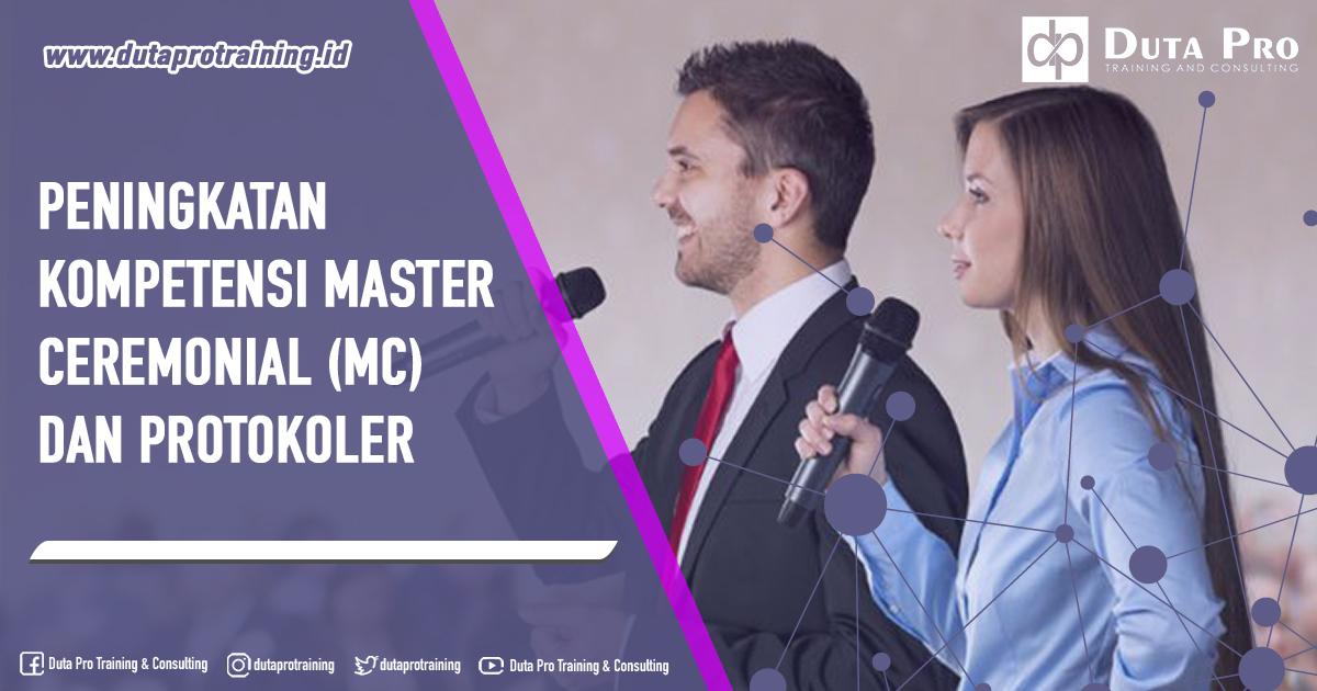Training Peningkatan Kompetensi Master Ceremonial (MC) dan Protokoler