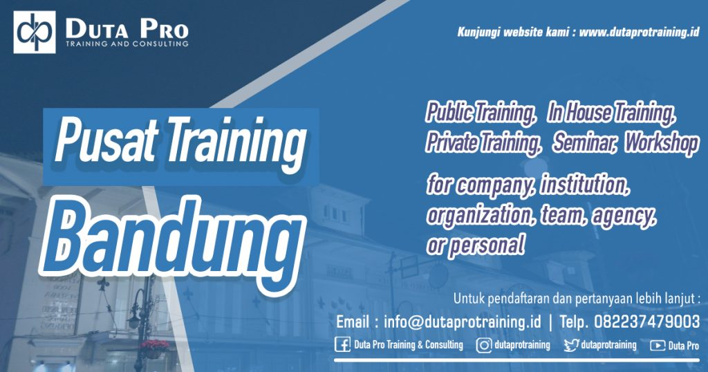 Pusat Training Bandung Public Training In House Private Pelatihan SDM Informasi Training Duta Pro Consulting