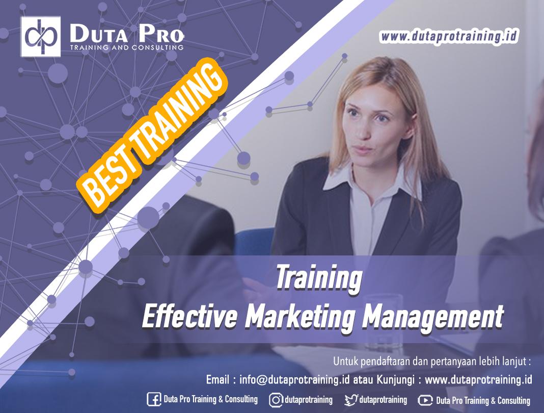 Training Effective Marketing Management
