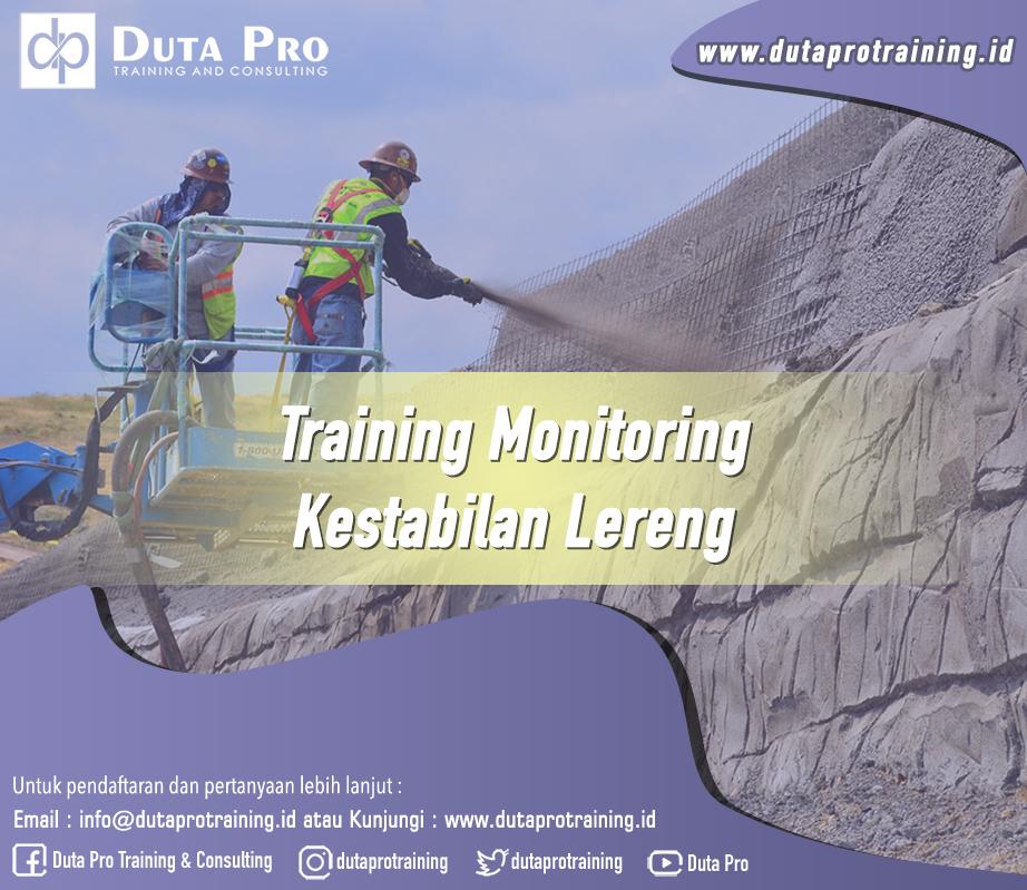 Training Monitoring Kestabilan Lereng