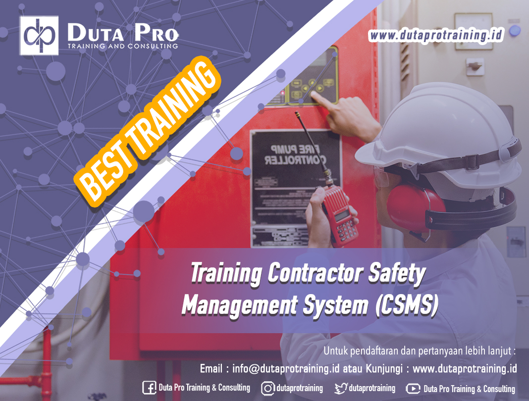 Training Contractor Safety Management System (CSMS)
