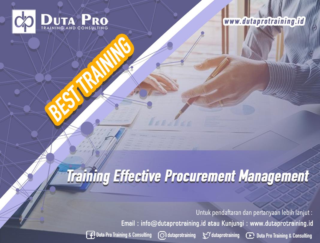 Training Effective Procurement Management