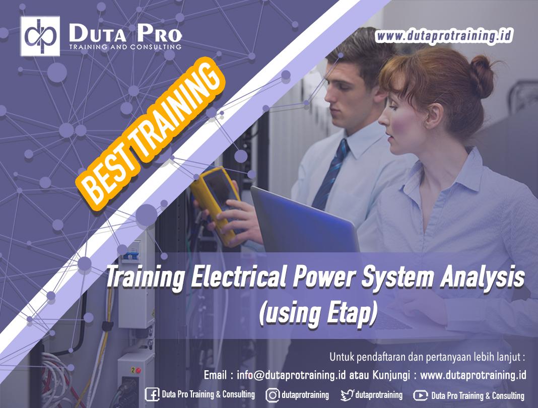Training Electrical Power System Analysis using Etap
