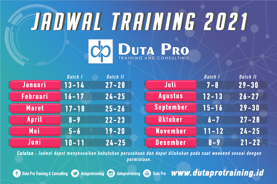Jadwal Training 2021